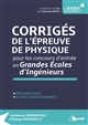 PHYSIQUE ANNALES CORRIGEES PC MP PSI